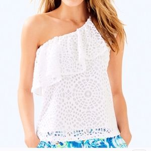 NWT Lilly Pulitzer Matteo White lace top 0032